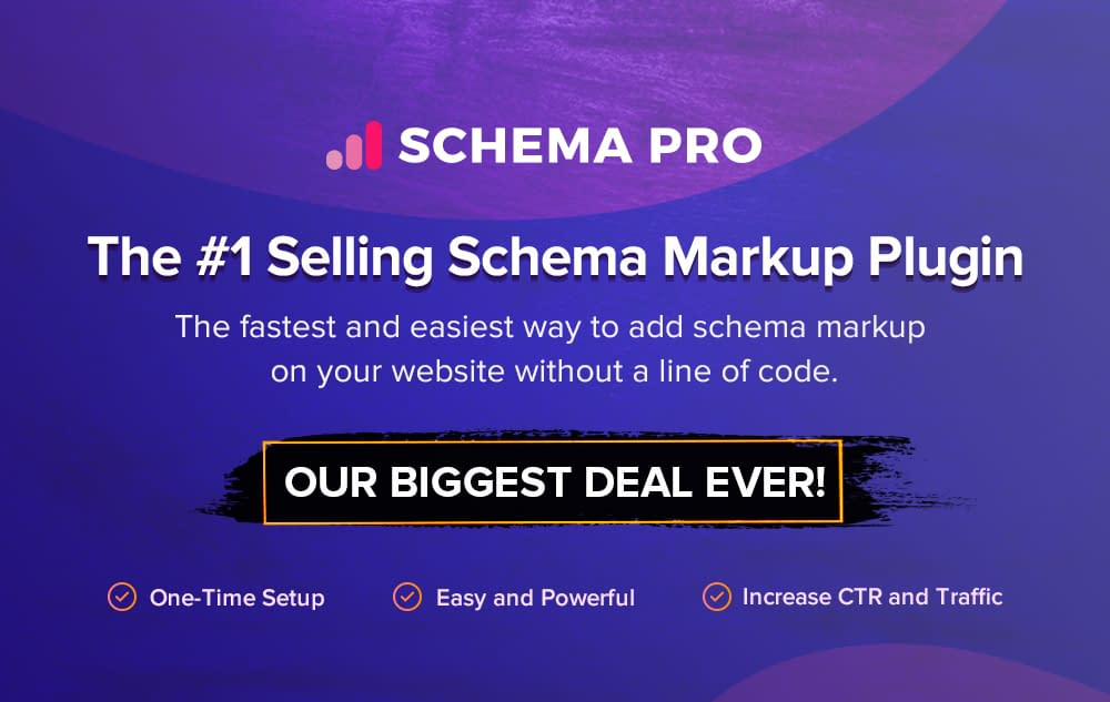Schema Pro - Black Friday and Cyber Monday Deal 2019