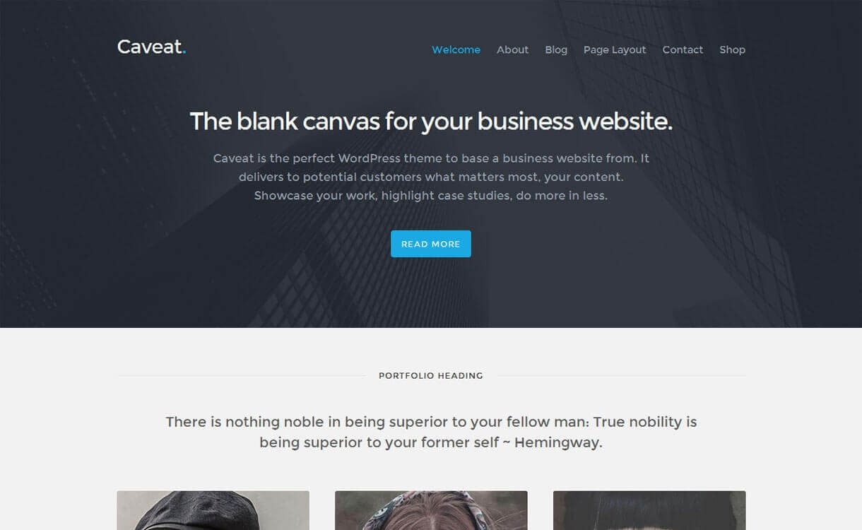 caveat-best-free-WordPress-Theme-December-2018