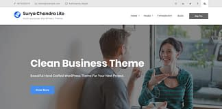 Surya Chandra Lite - Free Multipurpose WordPress Theme