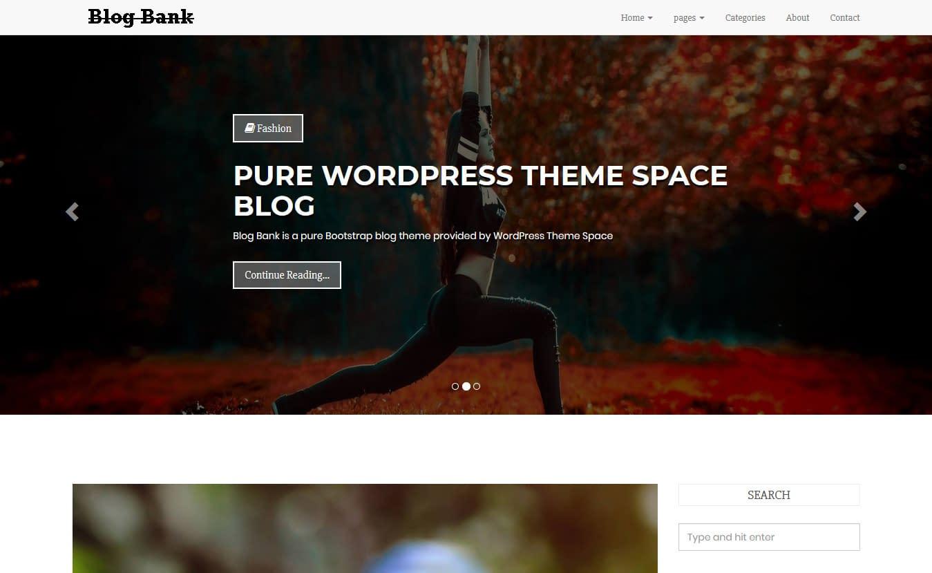 Blog Bank - Free Gutenberg WordPress Theme