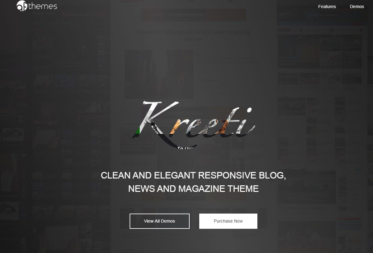 Kreeti - WordPress Gutenberg Theme