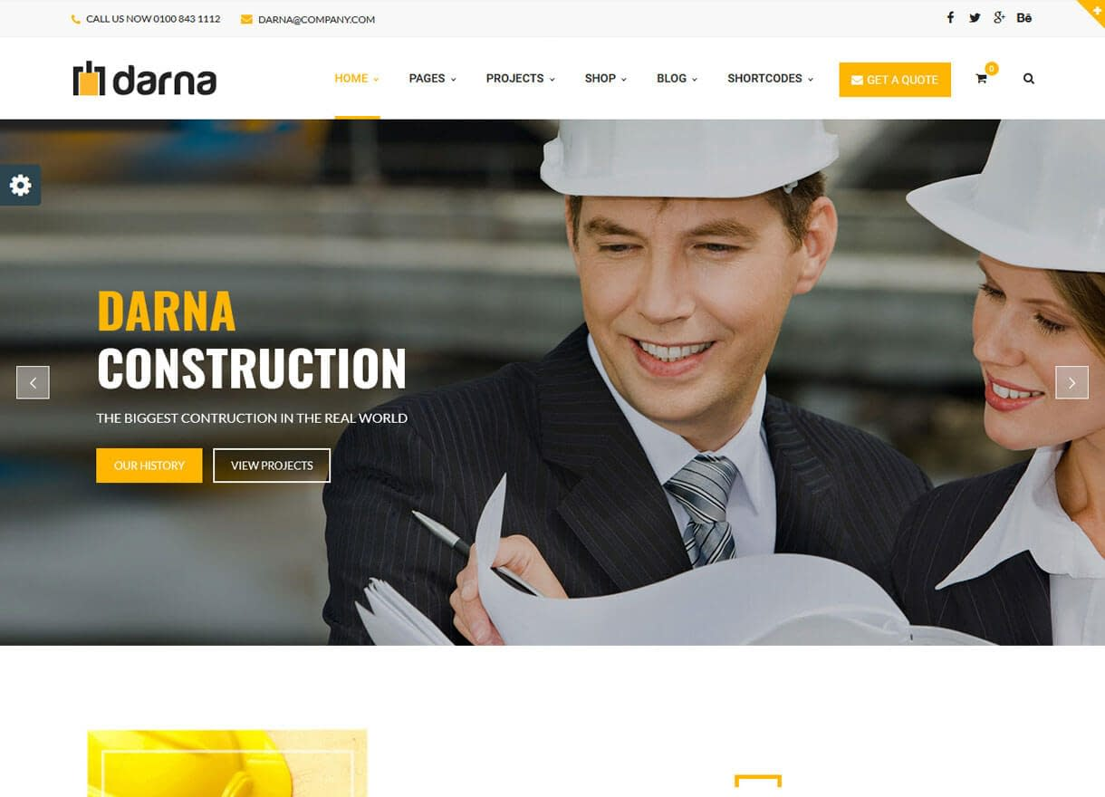 Darna-Best Premium WordPress Construction Company Themes 2018