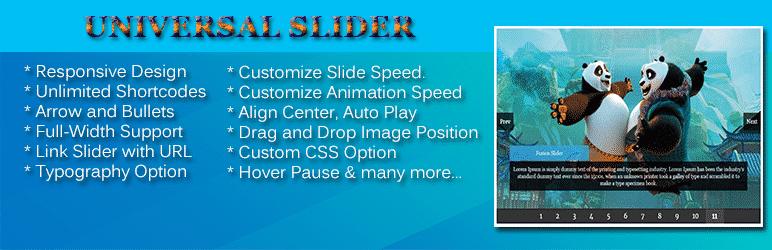 Universal Slider - WordPress Slider Plugin