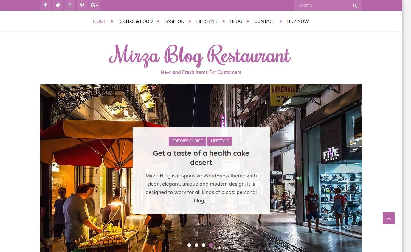 Mirza Blog - Free Gutenberg WordPress Theme