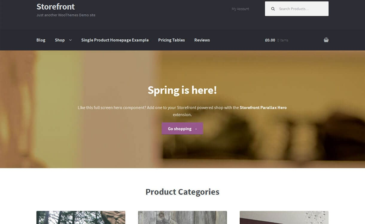 storefront best wordpress ecommerce themes