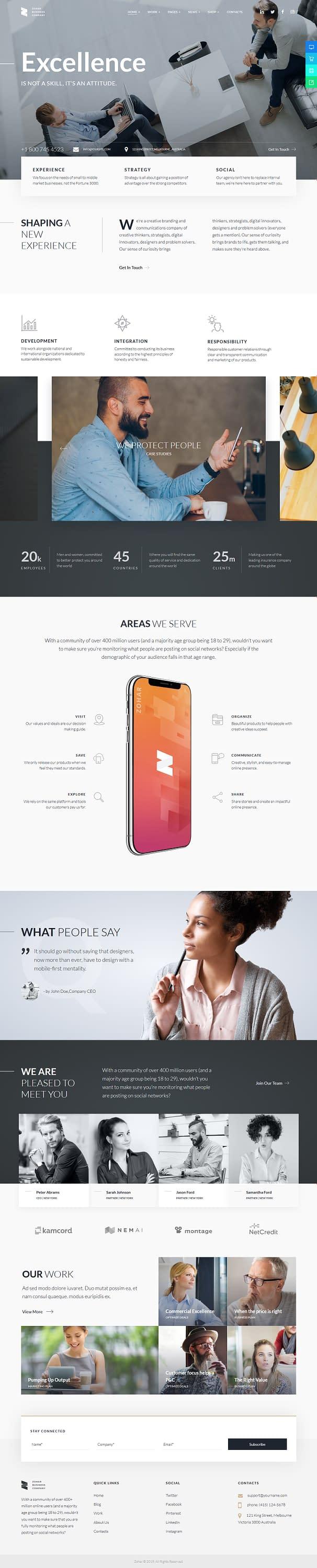 Zohar – Best Premium Elementor WordPress Theme