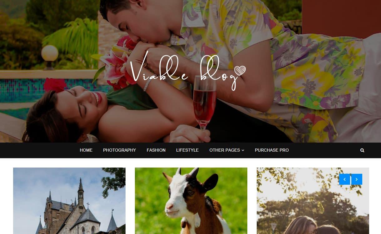 Viable Blog - Best Free WordPress Themes August