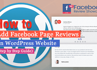 How to Showcase Facebook Page Reviews on WordPress Website? (Step by Step Guide)