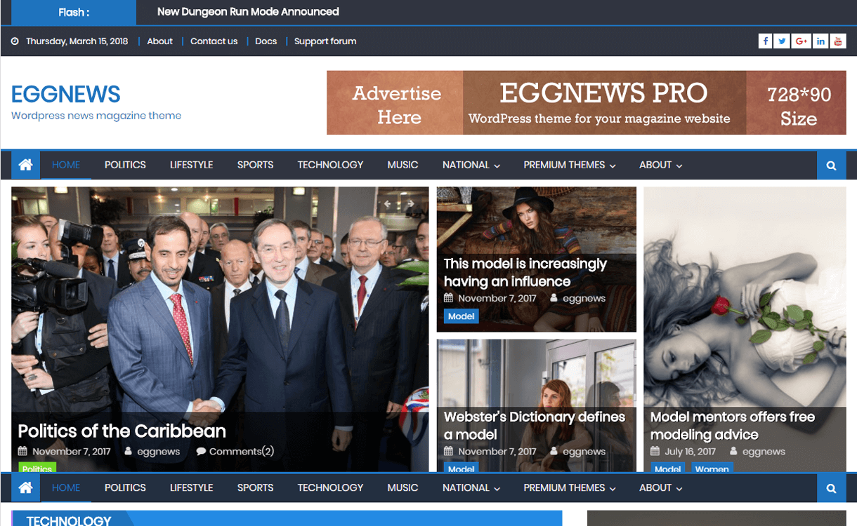 Eggnews-Best Free WordPress News-Magazine/Online Editorial Themes