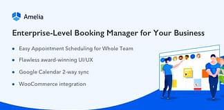 Amelia -  Appointment Booking WordPress Plugin