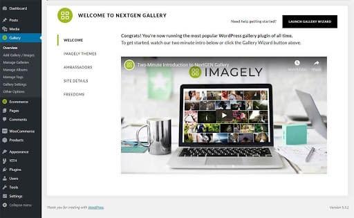 NextGEN Gallery Welcome Page