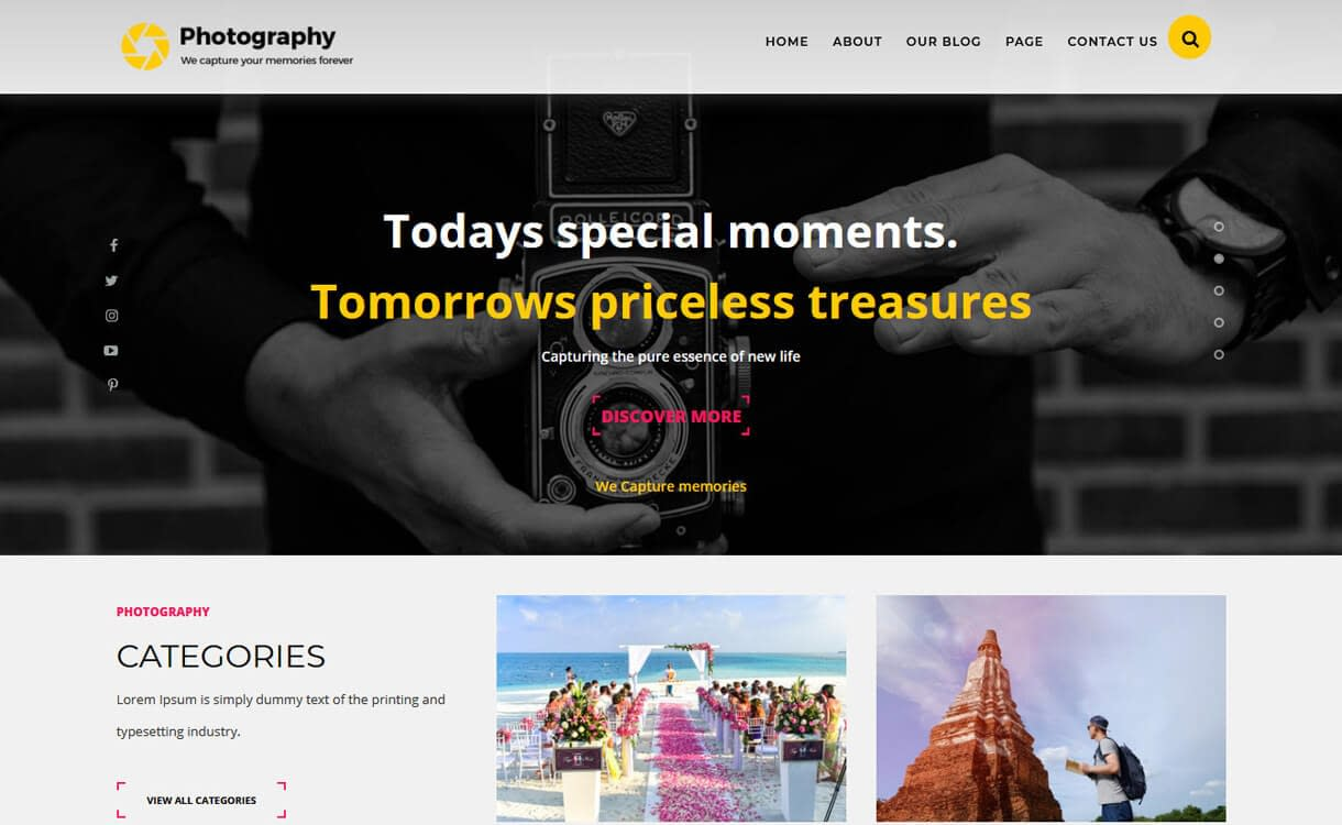 TS Photography-Best Free WordPress Photography Themes
