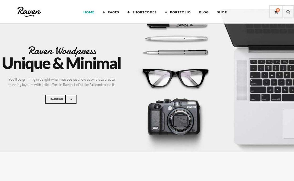 raven-best-premium-minimal-wordpress-theme