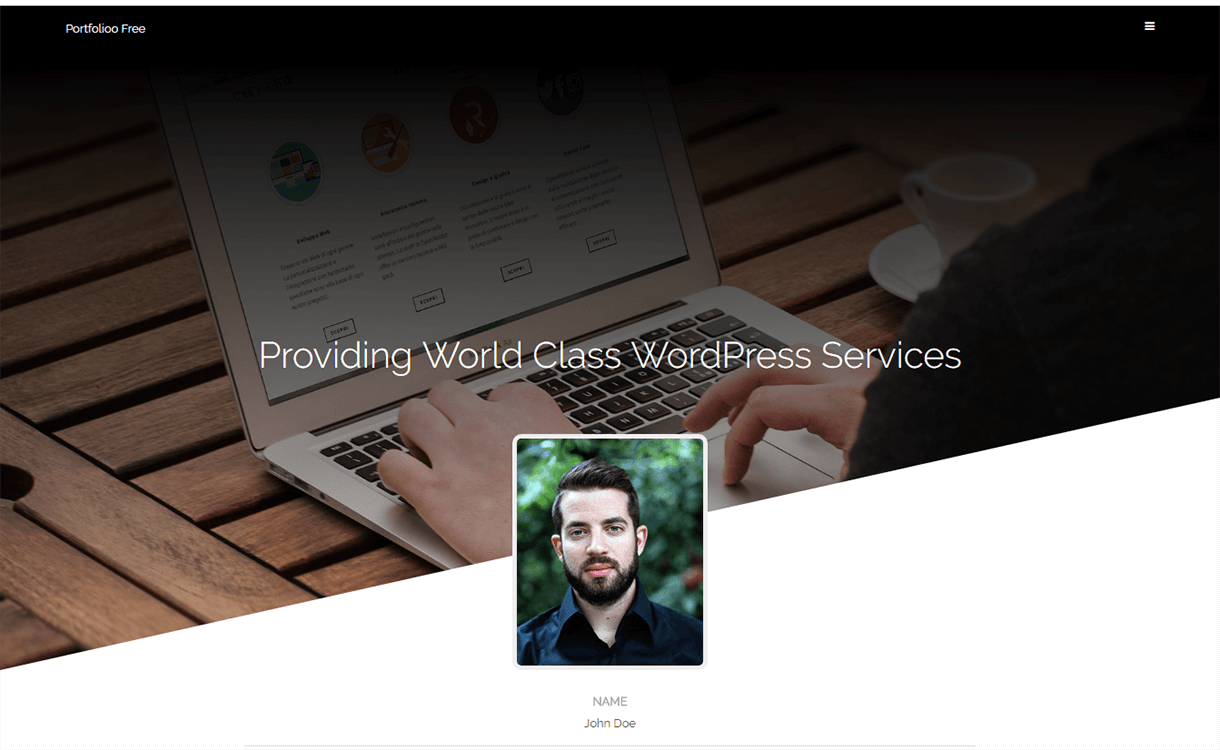 Portfolioo-Free WordPress Portfolio Themes