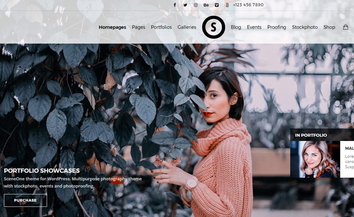 SceneOne - Best Premium WordPress Photography Themes