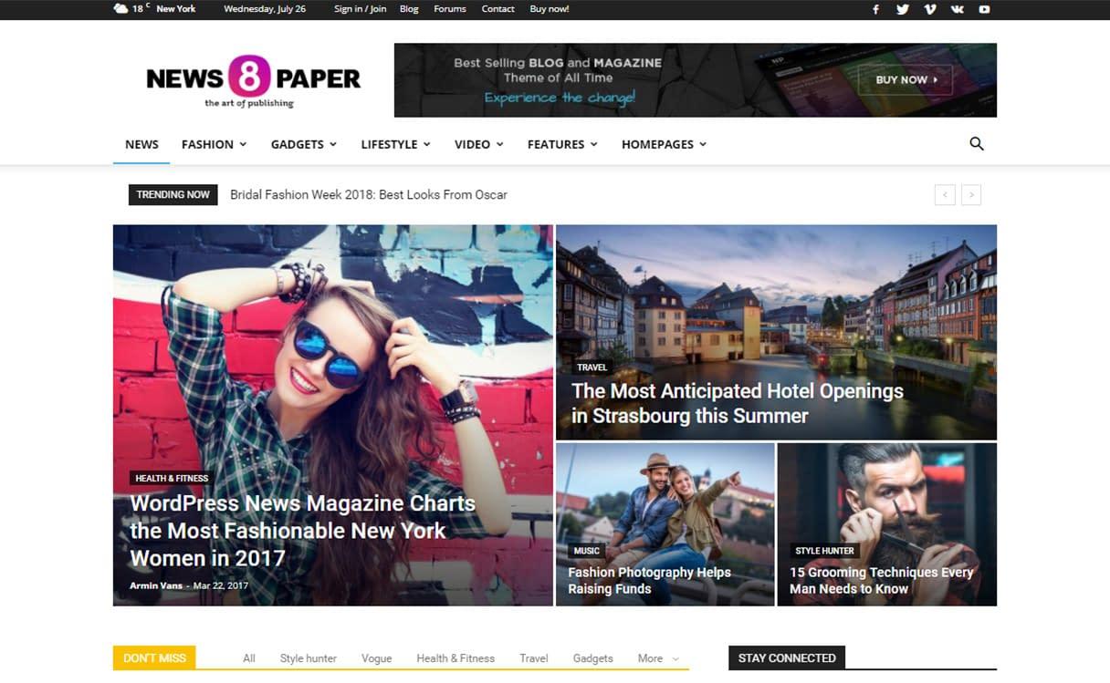 Newspaper - WordPress News-magazine Theme