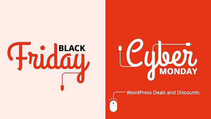 Black Friday Cyber Monday WordPress Deals