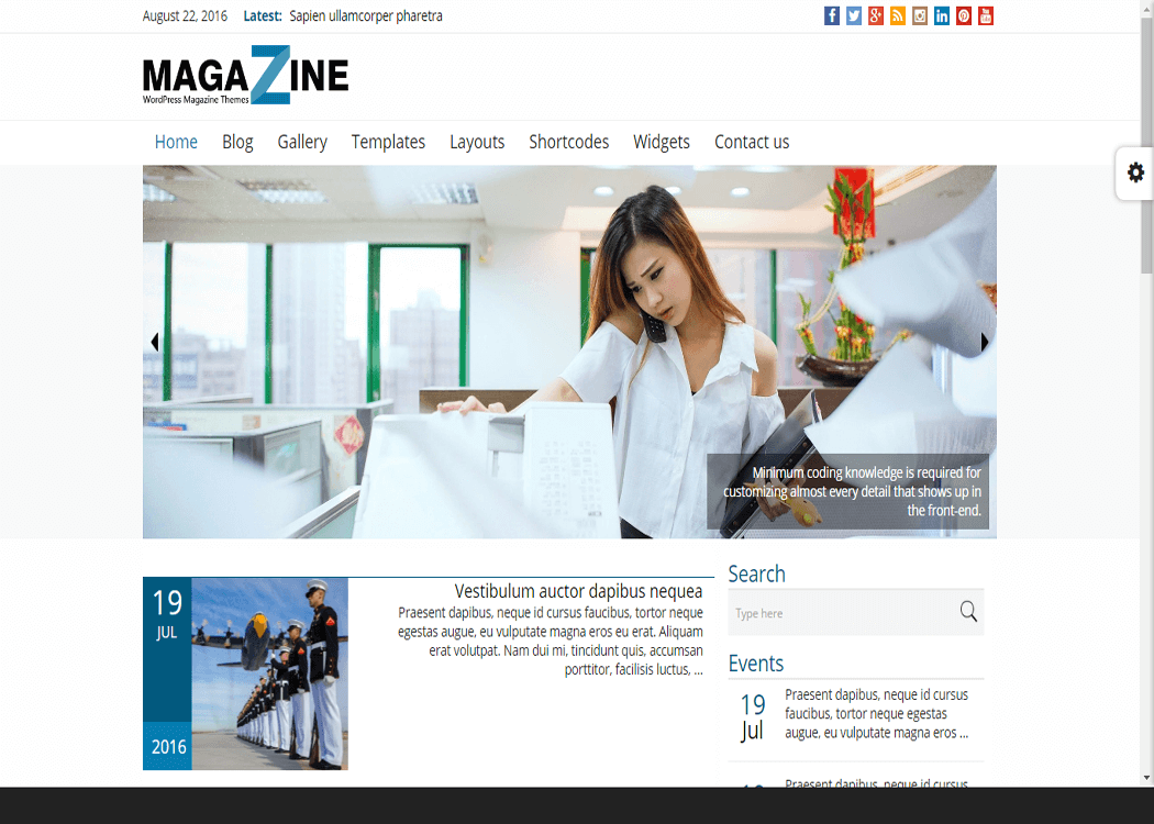 Magazine - WordPress News- Magazine WordPress Theme