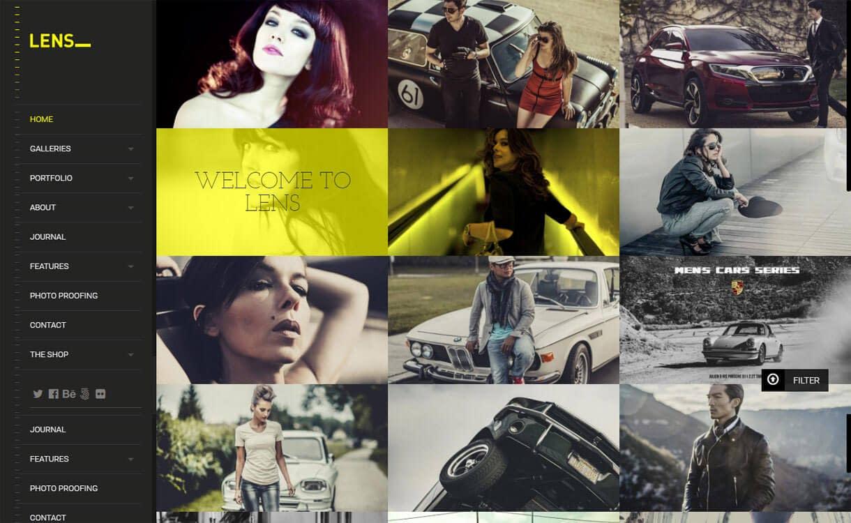 Lens - Best Premium WordPress Photography Themes