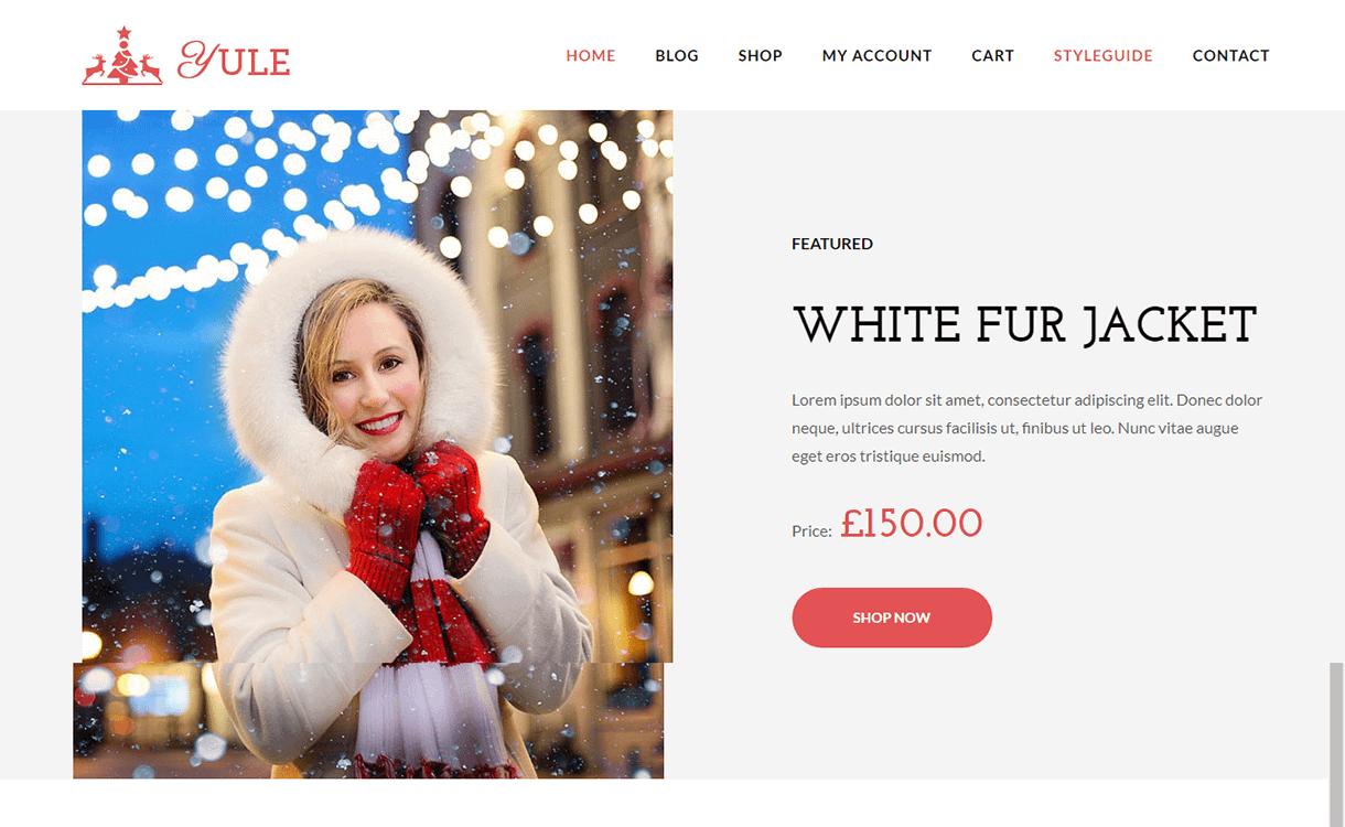 Yule-Best Free WordPress Themes December 2017
