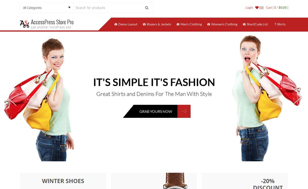 AccessPress Store Pro - Best Premium WordPress eCommerce WooCommerce Online Store Themes 2018