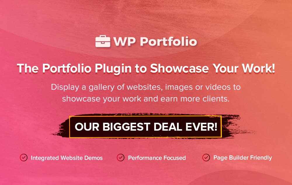 WP Portfolio - Black Friday and Cyber Monday Deal 2019