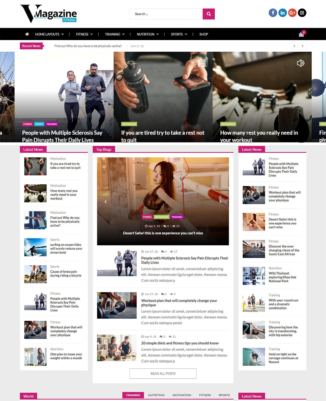 VMagazine - Fitness Magazine Demo