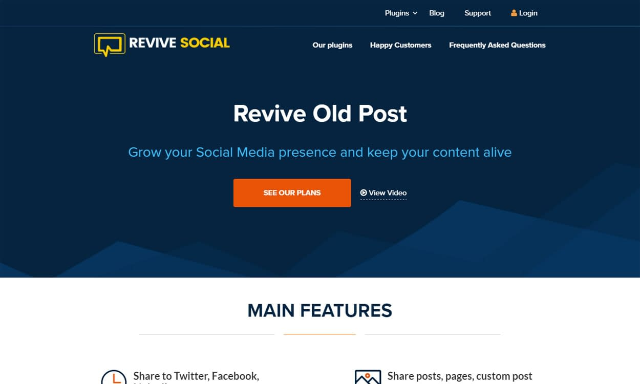 Revive Social Pro - WordPress Social Auto Post Plugins