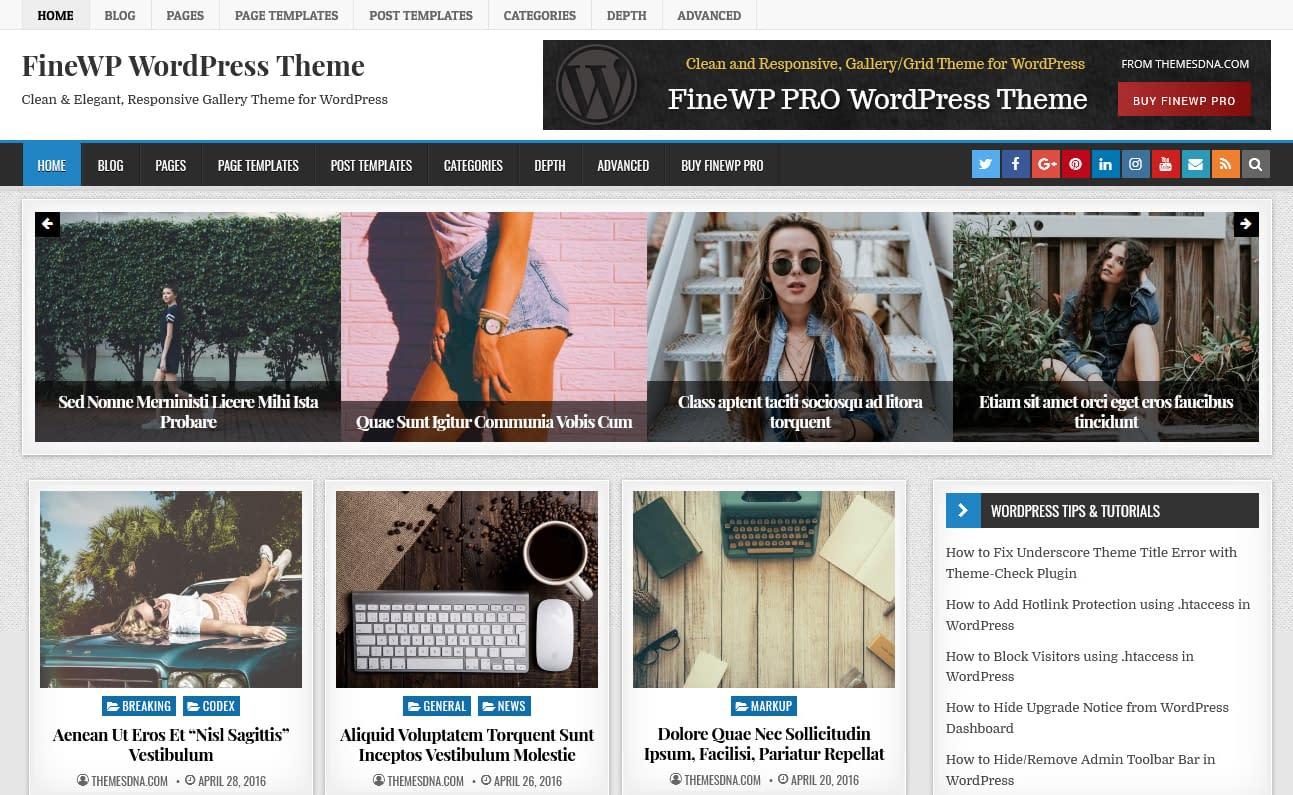 10+ Best Free Gallery WordPress Themes