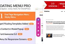 WP Floating Menu Pro - Premium WordPress Navigation Menu Plugin