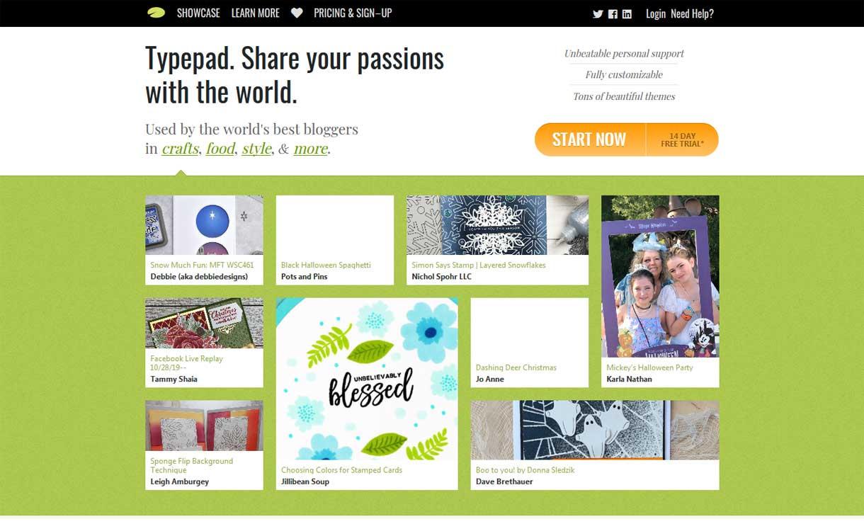 Typepad - Best Blogging Platforms