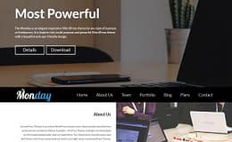 the-Monday-free-WordPress-theme