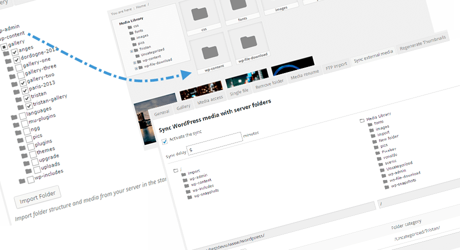 WP Media Folder feature - Import and sync