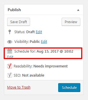 how to schedule your posts in wordpress