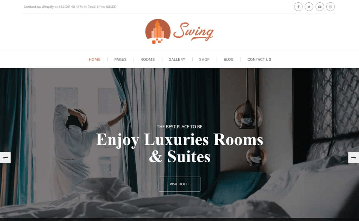 Swing-Best WordPress Travel Blog Themes