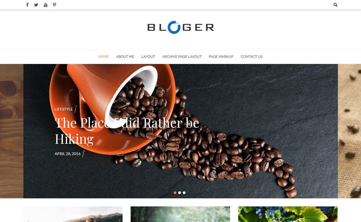 Bloger-Best Free WordPress News-Magazine/Online Editorial Themes