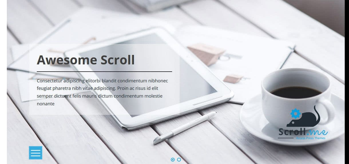 ScrollMe Pro - Best Premium WordPress One-Page Themes 2017