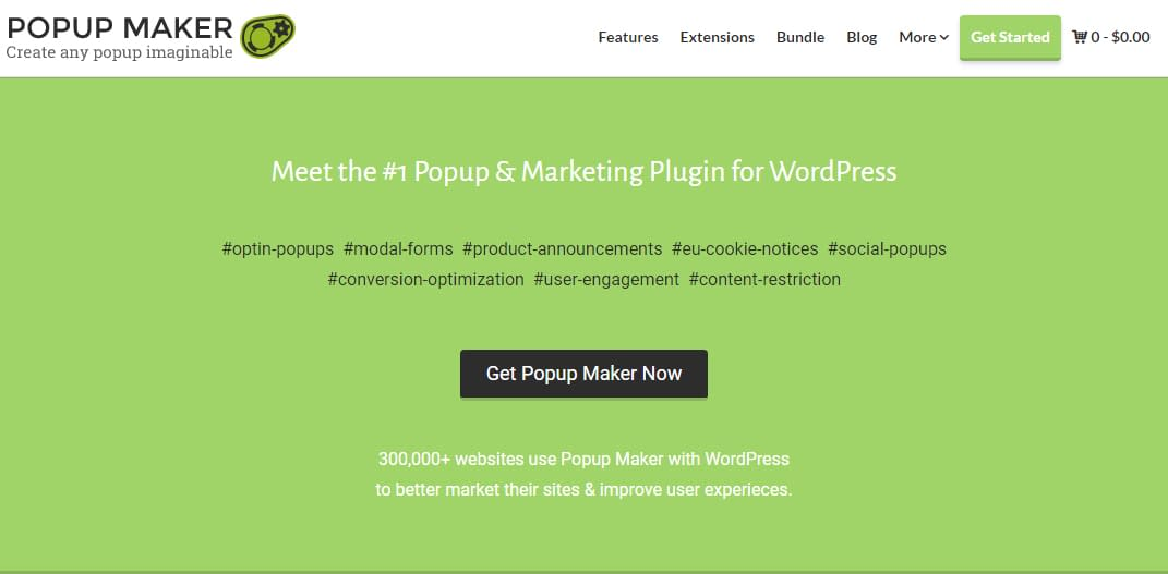 Popup Maker - Black Friday and Cyber Monday WordPress Deal 2018