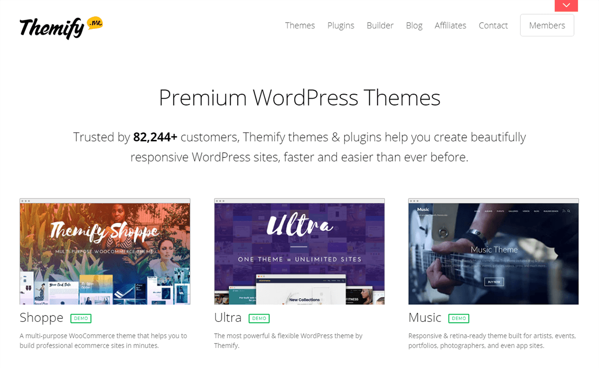 20% Off in WordPress Plugin by Themify