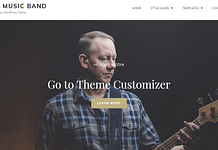 My Music Band - Free Entertainment WordPress Theme