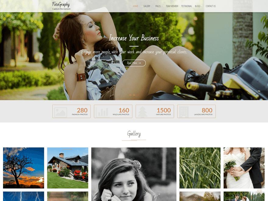 FotoGraphy - Free Photography WordPress Theme