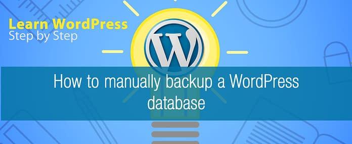 How to manually backup a WordPress database