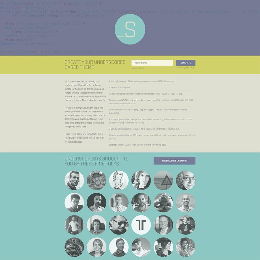 Underscores - Starter Theme for WordPress