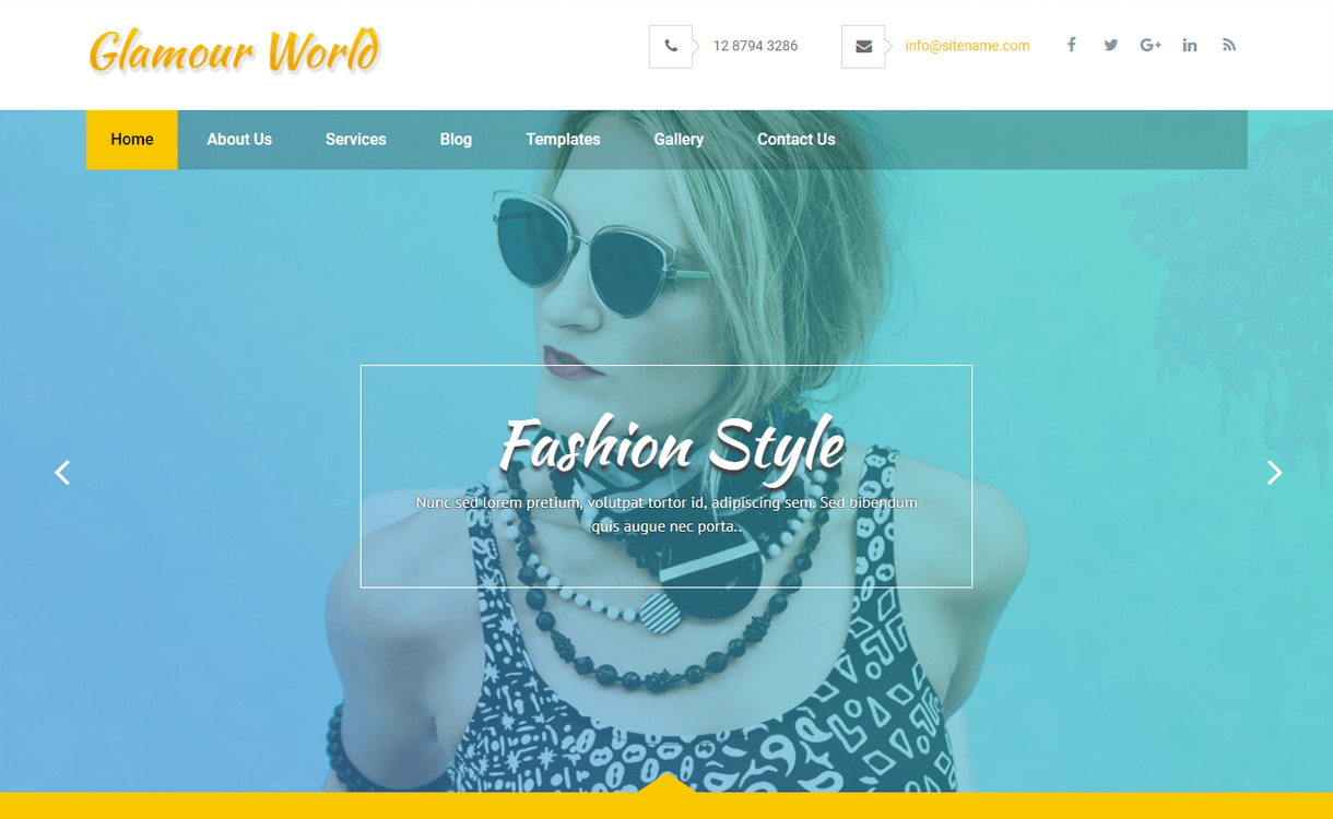 Glamour World-Best Free WordPress Theme January 2018