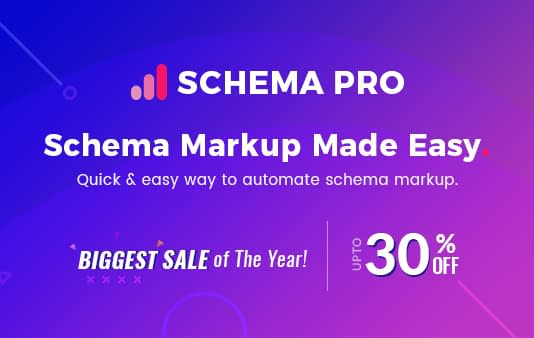 Schema Pro - Black Friday and Cyber Monday WordPress Deal 2018