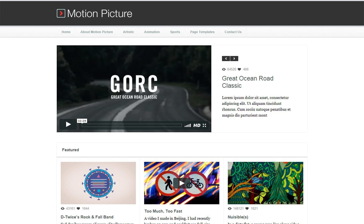 Motion Picture - Best Video WordPress Theme