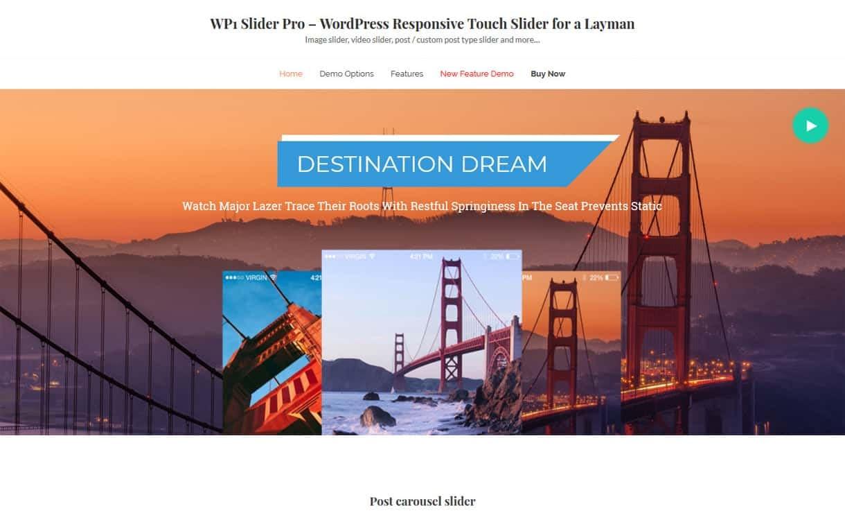 WP1 Slider Pro - WordPress Slider Plugins