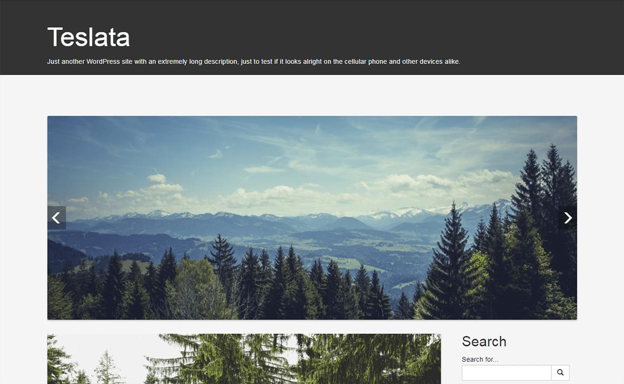 Teslata-WordPress Material Design Theme