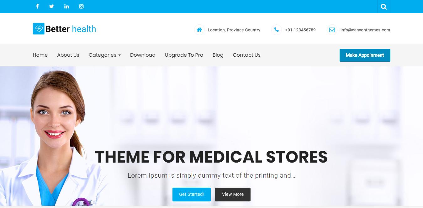 Better Health - Best Free Science WordPress Theme
