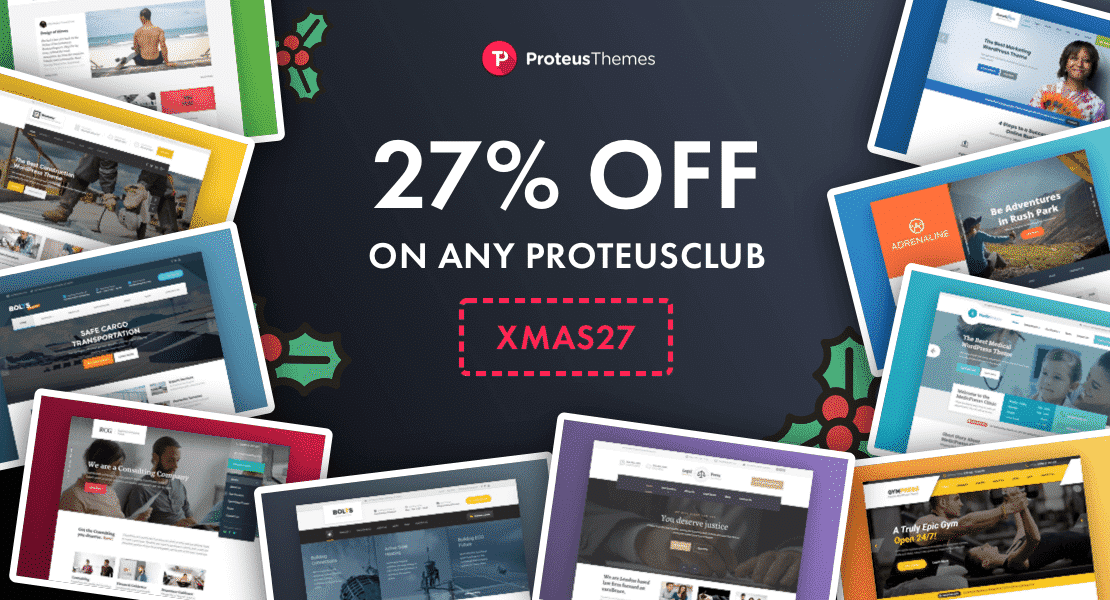 ProteusThemes - Best WordPress Christmas and New Year Deals